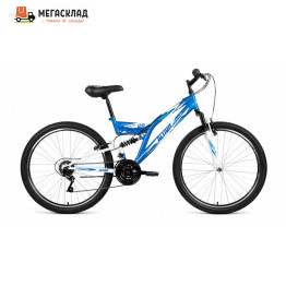 Велосипед FORWARD ALTAIR MTB FS 26 1.0 синий/белый