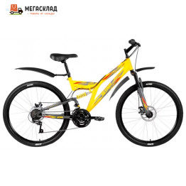 Велосипед FORWARD ALTAIR MTB FS 26 2.0 disc желтый/серый