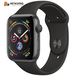 Умные часы Apple Watch S4 Sport 44mm Space Gray Aluminum Case with Black Sport Band