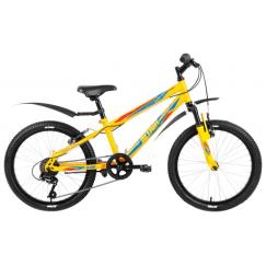 "Велосипед FORWARD ALTAIR MTB HT 20 2,0, 20"", аморт.вилка, 6 ск, желтый"
